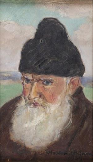Wlastimil HOFMAN (1881-1970), Głowa starca w futrzanej czapce, [1939]