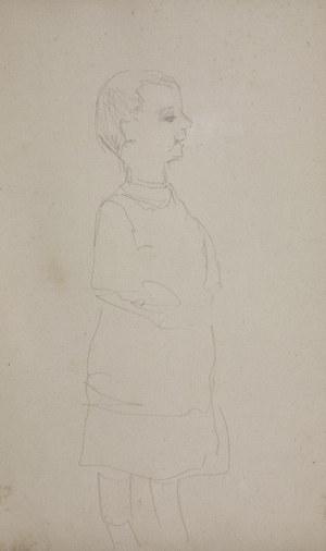 Jacek MALCZEWSKI (1854-1929), Studium postaci chłopca z prawego profilu