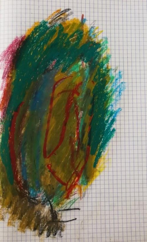 """Jerzy PANEK (1918-2001), Twarz abstrakcyjna II z cyklu """"NIEWIDOMY EROTOMAN"""", [1993]"""