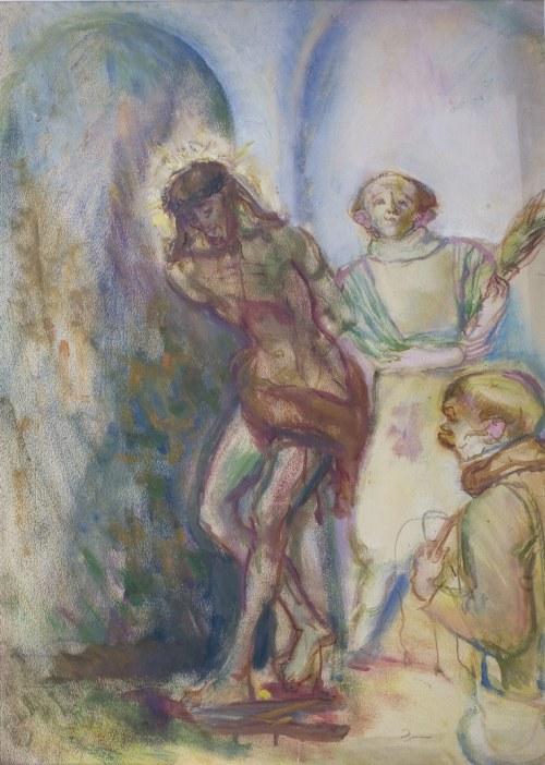 Kasper POCHWALSKI (1899-1971), Biczowanie Chrystusa, [ok. 1955]
