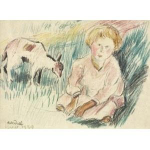 Kazimierz PODSADECKI (1904 – 1970), Dziewczynka na łące, [1939]