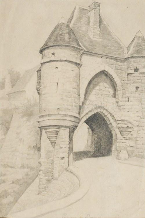 Ryszard PRAUSS (1902-1955), Brama Zamku w Rouen
