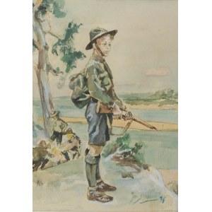 Jan STĘPIEŃ (1895?-1976), Czuwaj! - Straż nad Wisłą, 1936