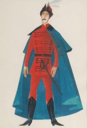 Stanisław BĄKOWSKI (1929-2003), Pan Jowialski (?) - projekt kostiumu teatralnego (operowego?) z lat 60/70 XX w.