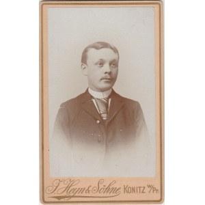 CHOJNICE; Portret młodego mężczyzny; fot. wykonana w atelier J. Hey ...