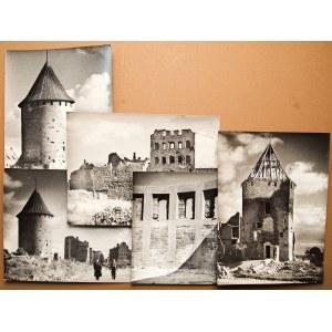 GDAŃSK. Baszta Łabędź – zestaw 5 fot. przedstawiających basztę ...