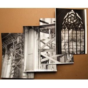 GDAŃSK. Bazylika Mariacka – zestaw 4 fot. dokumentujących odbudow
