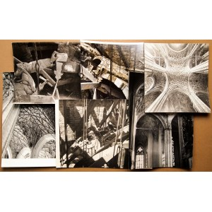 GDAŃSK. Bazylika Mariacka – zestaw 6 fot. dokumentujących odbudow