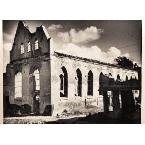 GDAŃSK. Dawny kościół św. Ducha przed odbudową z wojennych znisz ...