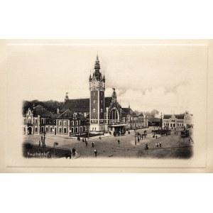 GDAŃSK. Dworzec Gdańsk Główny, pochodzi z teczki: Danzig, wyd. Joh ...