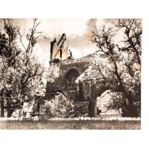 GDAŃSK. Kościół św. Bartłomieja przed odbudową ze zniszczeń wo ...