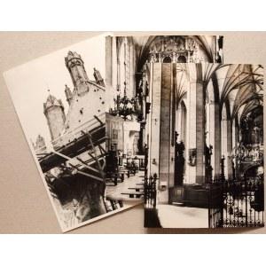 GDAŃSK. Kościół św. Katarzyny – zestaw 3 fot. przedstawiającyc ...