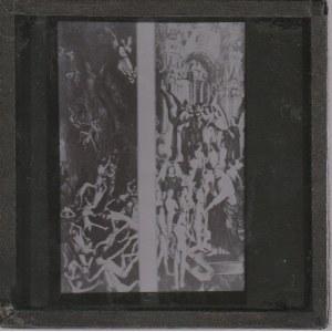 GDAŃSK. Szklany diapozytyw przedstawiający zdjęcie wnętrza Dworu A ...