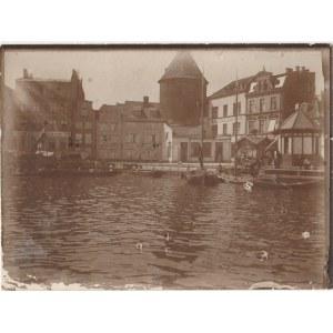 GDAŃSK. Widok przedstawia Targ Rybny, wykon. ok. 1880 rokiem, fot. cz ...