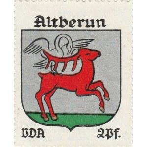 BIERUŃ. Naklejka z herbem Bierunia (jeleń, na którego rogach jeleni ...