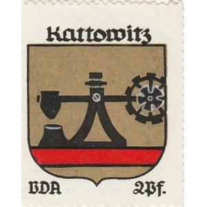 KATOWICE. Naklejka z herbem Katowic (urządzenie kuźnicze), seria po