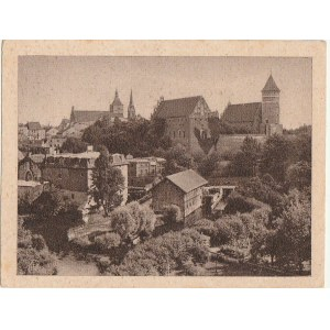 OLSZTYN. Widok przedstawia bazylikę konkatedralną św. Jakuba Aposto ...