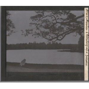 RUCIANE- NIDA. Szklany diapozytyw przedstawiający zdjęcie jeziora Ni ...