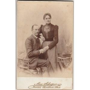 POZNAŃ. Fotografia mężczyzny i kobiety, wykon. Max Schaper, Poznań ...