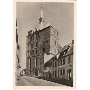 KOŁOBRZEG. Widok przedstawia Katedrę w Kołobrzegu, pocztówka, wyd. ...