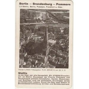 SZCZECIN. Lotnicze zdjęcie miasta, poniżej krótki tekst dotyczący  ...