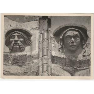 SZCZECIN. Widok na maski terakotowe z Kościoła św. Piotra i Pawła, ...