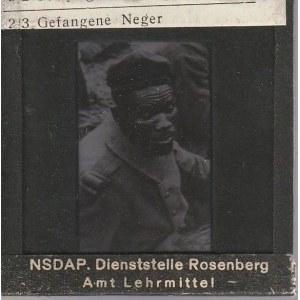 BERLIN. Szklany diapozytyw przedstawiający zdjęcie jeńca pochodząc ...