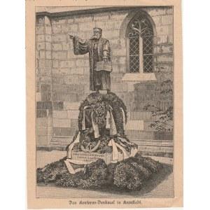 BRASZÓW (niem. Kronstadt). Fotografia przedstawia Pomnik Honterusa pr ...