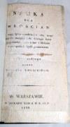 WOLICKI- NAUKA DLA WŁOŚCIAN wyd. 1831