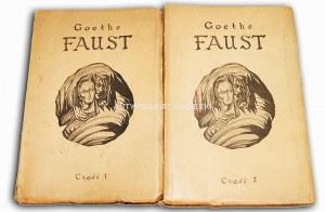 GOETHE- FAUST 1-2 (komplet) z podpisem Emila Zegadłowicza i Franciszka Foltina