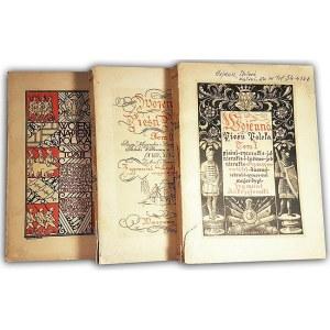 ANDRZEJEWSKI - WOJENNA PIEŚŃ POLSKA t.1-3 (komplet w 3 wol.) wyd. 1939r.