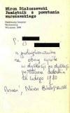 BIAŁOSZEWSKI- PAMIĘTNIK Z POWSTANIA autograf