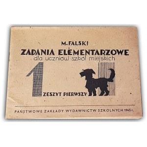 FALSKI - ZADANIA ELEMENTARZOWE Zeszyt pierwszy 1945r.