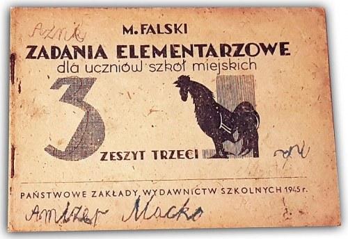FALSKI - ZADANIA ELEMENTARZOWE Zeszyt trzeci 1945r.