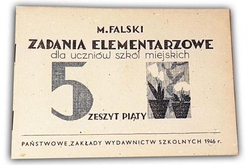 FALSKI - ZADANIA ELEMENTARZOWE Zeszyt piąty 1946r.