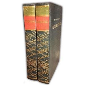 MANN- BUDDENBROOKOWIE t.1-2 (komplet) wyd.1 z 1931r.