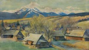 Augustynowicz Aleksander, PEJZAŻ PODTATRZAŃSKI, 1916
