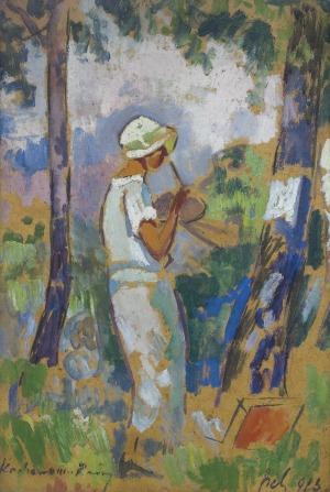 Sichulski Kazimierz, W OGRODZIE, 1923