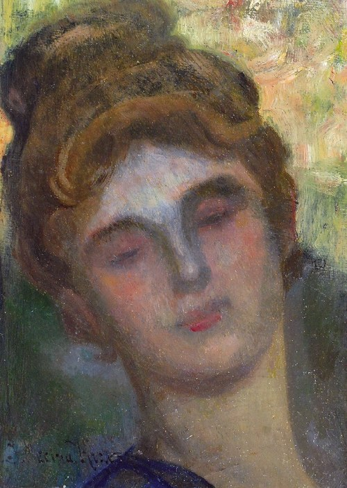 Józef MĘCINA-KRZESZ (1860-1934), Studium głowy kobiecej