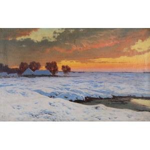 Jan GRUBIŃSKI (1874-1945), Pejzaż zimowy