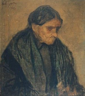 Teodor GROTT (1884-1972), Głowa staruszki, 1906
