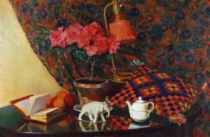 Kazimierz DZIELIŃSKI (1894-1955), Martwa natura z porcelanowym słonikiem, 1929