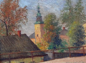 Henryk DIETRICH (1889-1948), Kościół w małym miasteczku, 1937