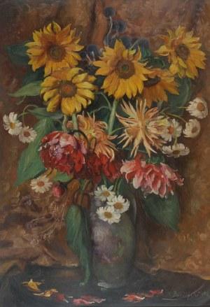 Jan Kazimierz DZIELIŃSKI (1894-1955), Kwiaty w wazonie, 1942