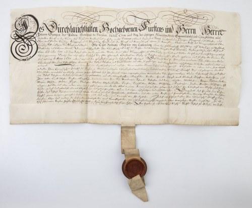 DOKUMENT, ELEKTOR SASKI JAN JERZY WETTYN, 20.07.1657
