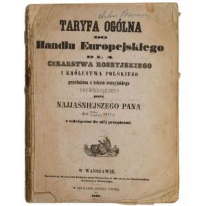 TARYFA OGÓLNA DO HANDLU EUROPEJSKIEGO