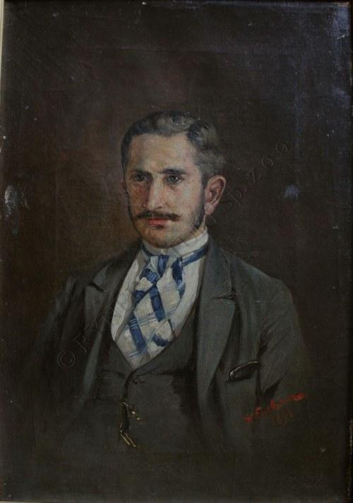 Włodzimierz Łuskina (1849-1894), Portret mężczyzny (1891)