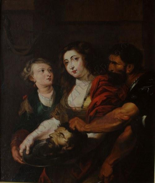 A.N.(XIX w.) według Peter Paul Rubens (1577-1640), Salome z głową św. Jana Chrzciciela