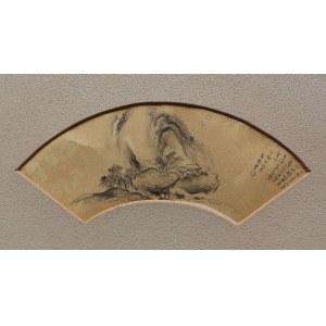 A.N.(Chiny, pocz.XX w.), Pejzaż (w formie wachlarza)