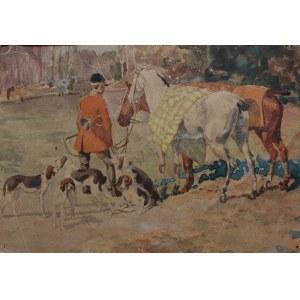 A.N.(I poł.XX w.), Scena z polowania par force